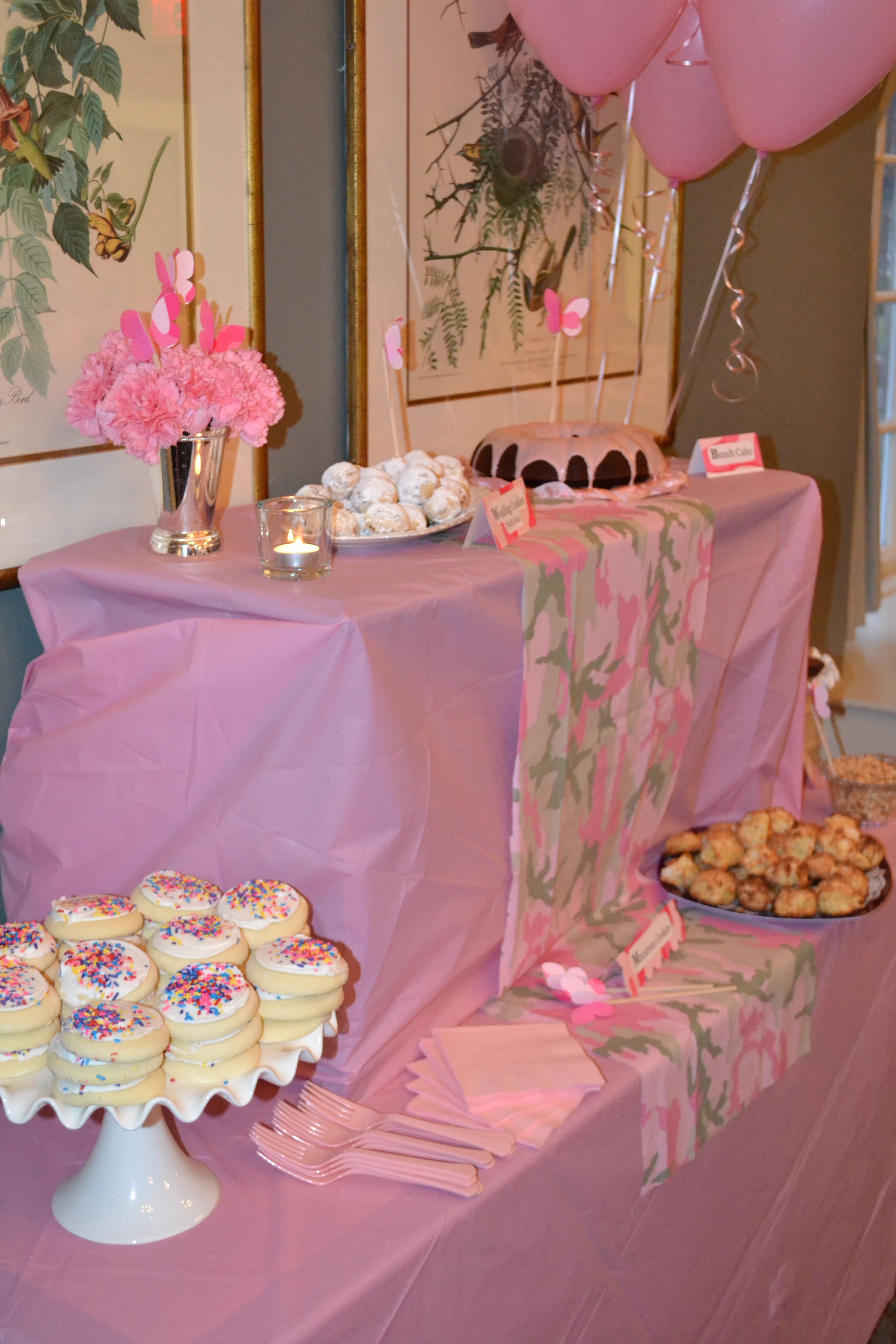 pink camo baby shower soithinkicancraft